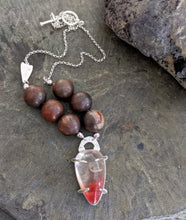 Load image into Gallery viewer, Arrowhead - Lodolite and Petrified Wood Necklace