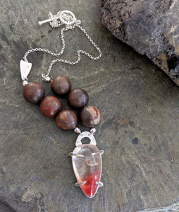 Arrowhead - Lodolite and Petrified Wood Necklace