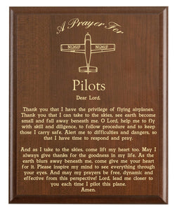 Pilots Prayer Plaque