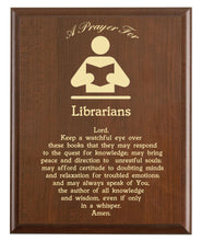 Load image into Gallery viewer, Librarian Prayer Plaque
