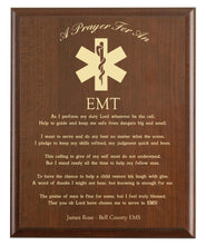 Load image into Gallery viewer, EMT Prayer Plaque