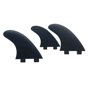 FCS Base, The Standard Beginner Plastic Tri Set (Jet Black)