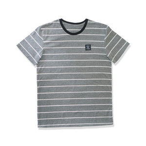 WSL Stripe Knit Men's Tee (Heather Gray)