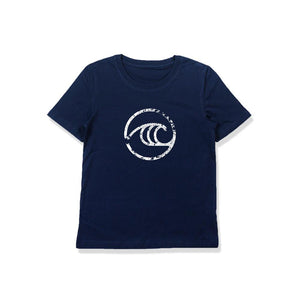 WSL Groundswell Youth Tee (Navy)
