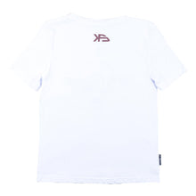 Load image into Gallery viewer, KS Woven Lines Kid's Tee (Organic White)