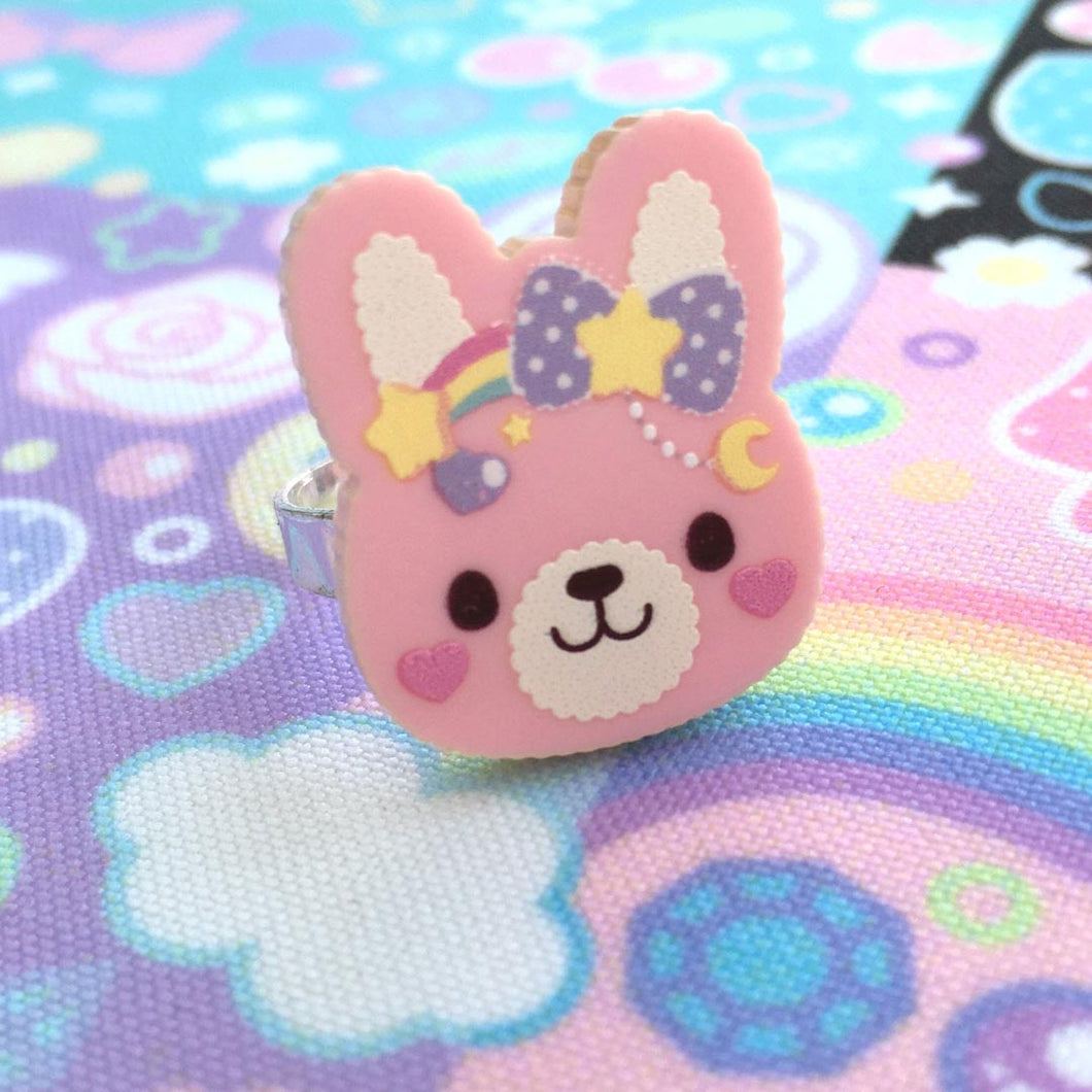 Sweet Bunny ~ Brooch or Ring