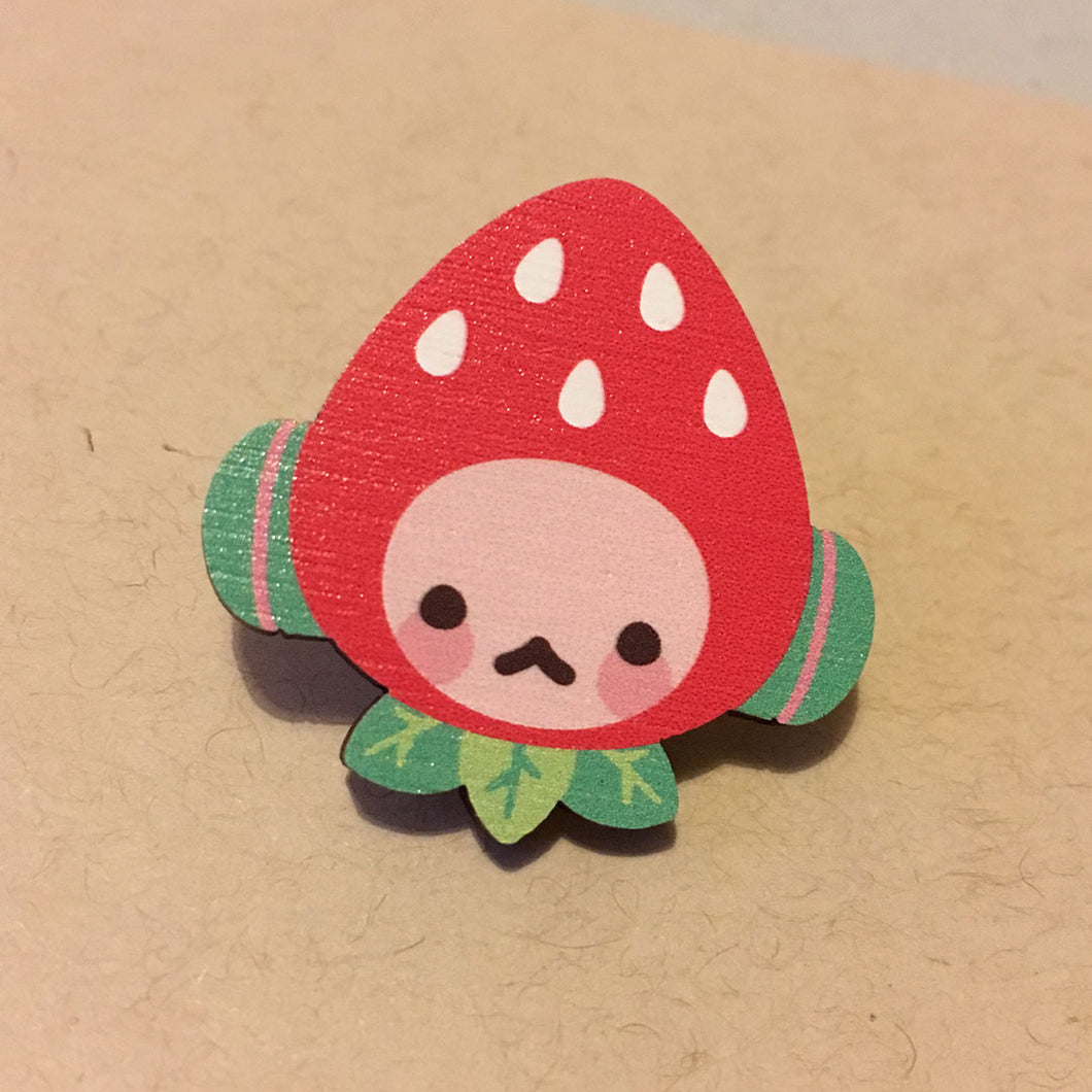 Strawberry Robo • FRUIT Pins
