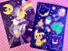 Load image into Gallery viewer, Ghost Type - Sticker Sheet & Postcard Set