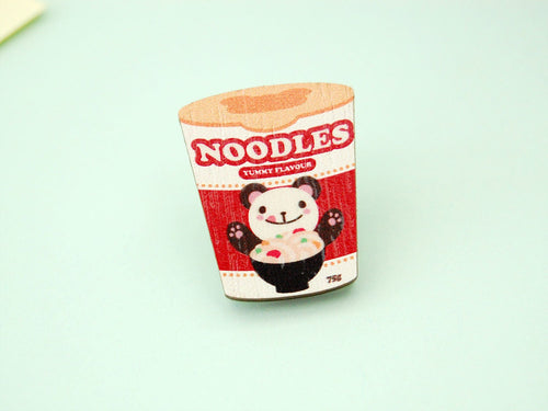 Cup Noodles Wooden Pin