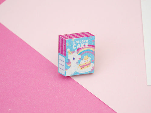 Unicorn Cake Mix Wooden Pin