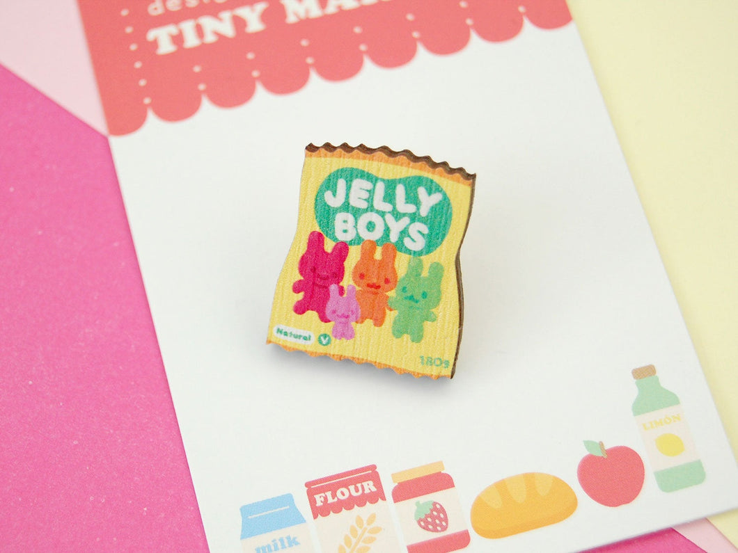 Jelly Boys Wooden Pin