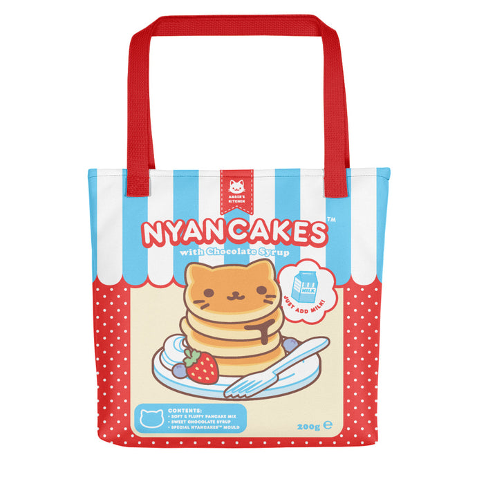 Nyancakes Tote (Red)