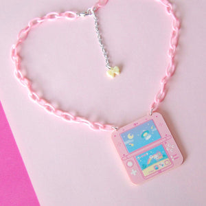 Space Bun Adventure Game Necklace (Pink)
