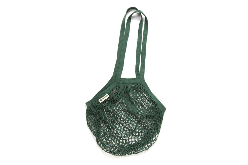 Turtle Bags | Organic Long Handled String Bag in Bottle Green