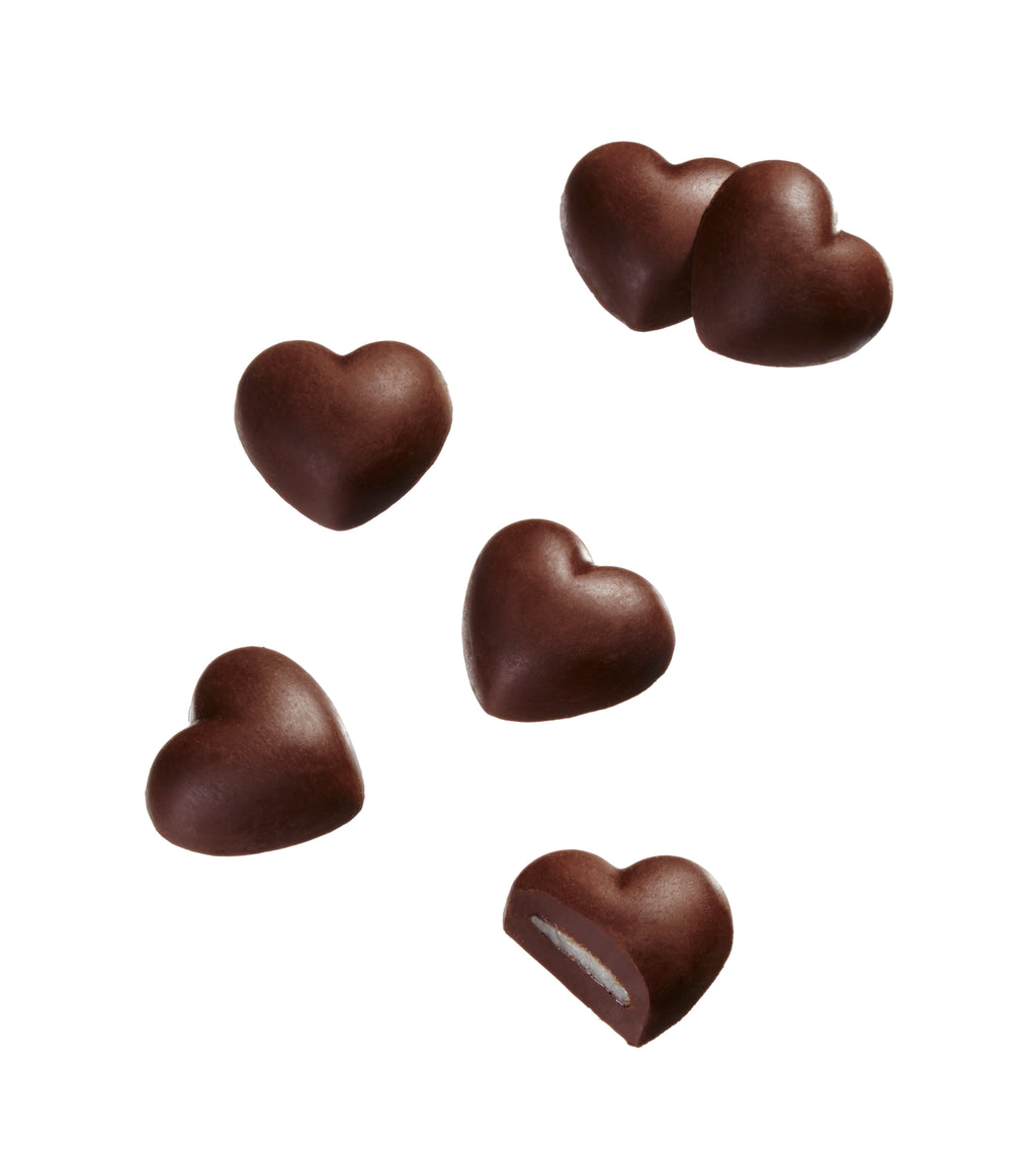 mint chocolate hearts