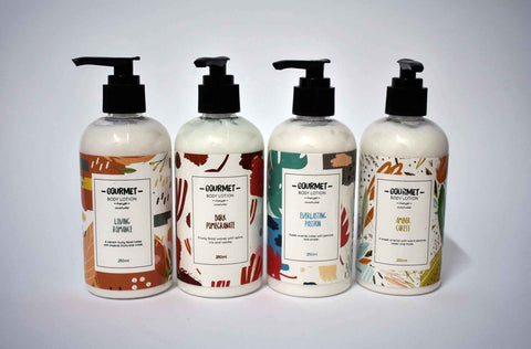 Gourmet Body Lotion All Fragrances 4 x 250ml