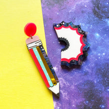 Load image into Gallery viewer, Mismatched Pencil and shaving earrings - Annie's Fingers