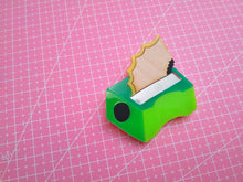 Load image into Gallery viewer, Pencil sharpener brooch - Annie's Fingers