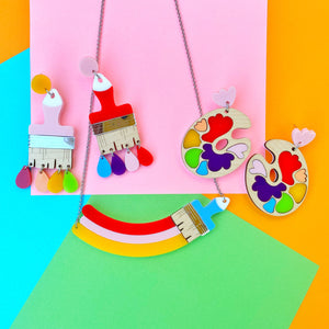 Rainbow paint necklace - Annie's Fingers