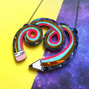 Twisty pencil necklace - Annie's Fingers