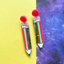 Load image into Gallery viewer, Pencil earrings - Annie's Fingers