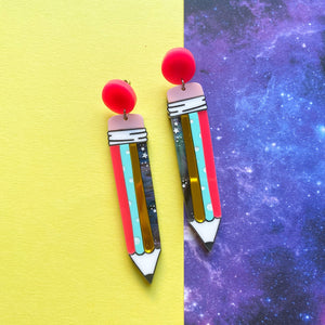Pencil earrings - Annie's Fingers