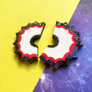 Pencil shaving earrings - Annie's Fingers