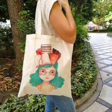 Load image into Gallery viewer, Book lover tote bag - Annie's Fingers