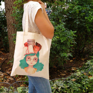 Book lover tote bag - Annie's Fingers