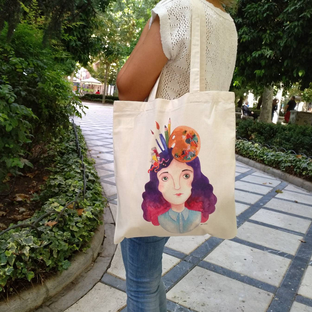 Art lover tote bag - Annie's Fingers