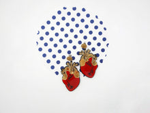 Load image into Gallery viewer, Heart earrings Red - Annie's Fingers