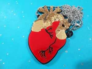 Heart necklace Red - Annie's Fingers