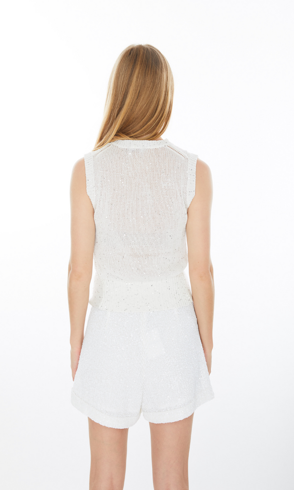 Generation Love Ren Sequin Sweater Tank in White