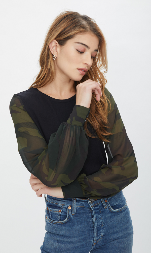 Generation Love - Noelle Camo Top - Black/Camo