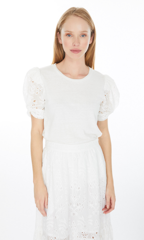 Generation Love Coco Embroidery Combo Top - White