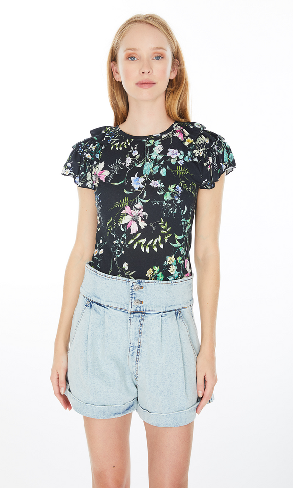 Generation Love Carrie Floral Ruffle Top