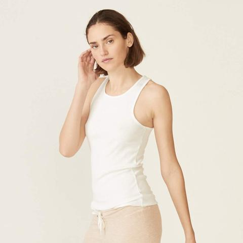 MONROW - Rib Narrow Basic Tank - White