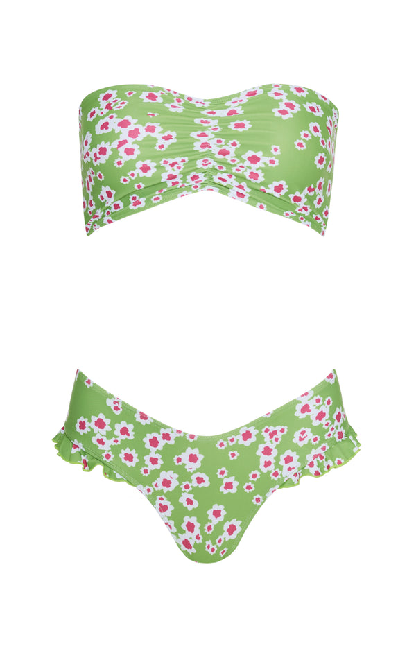 FAITHFULL - TIA BIKINI LE BON FLORAL APPLE GREEN