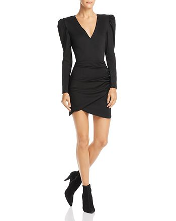 Alice + Olivia - Judy Ruched Mini Dress - Black