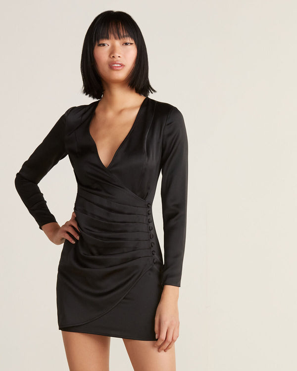 JAY GODFREY - OULETTE MINI DRESS - BLACK