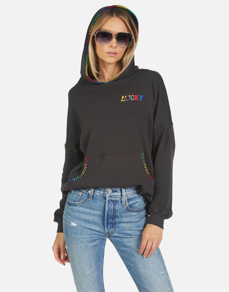 Lauren Moshi - Raya Lucky Happy Face Hoodie - Onyx