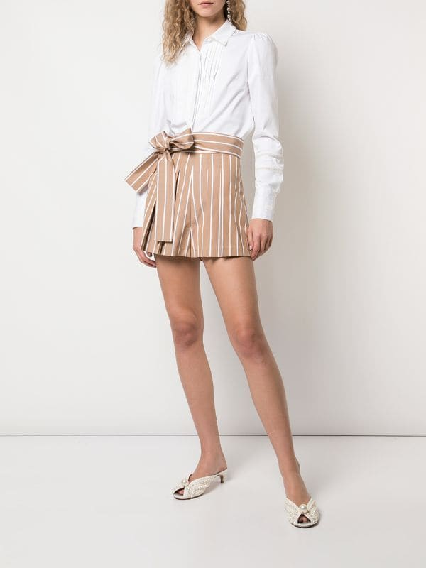 Alexis - Noya Short  - Tan Stripe