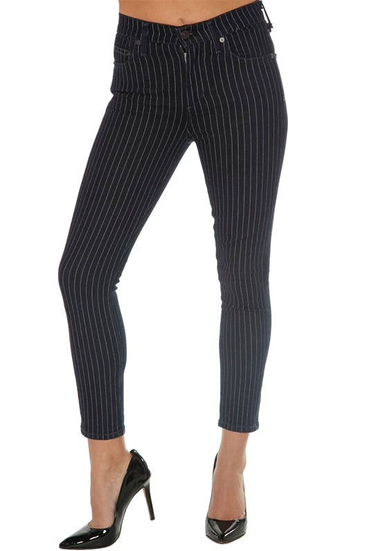 CITIZENS OF HUMANITY - ROCKET CROP HIGH RISE SKINNY - PINSTRIPE