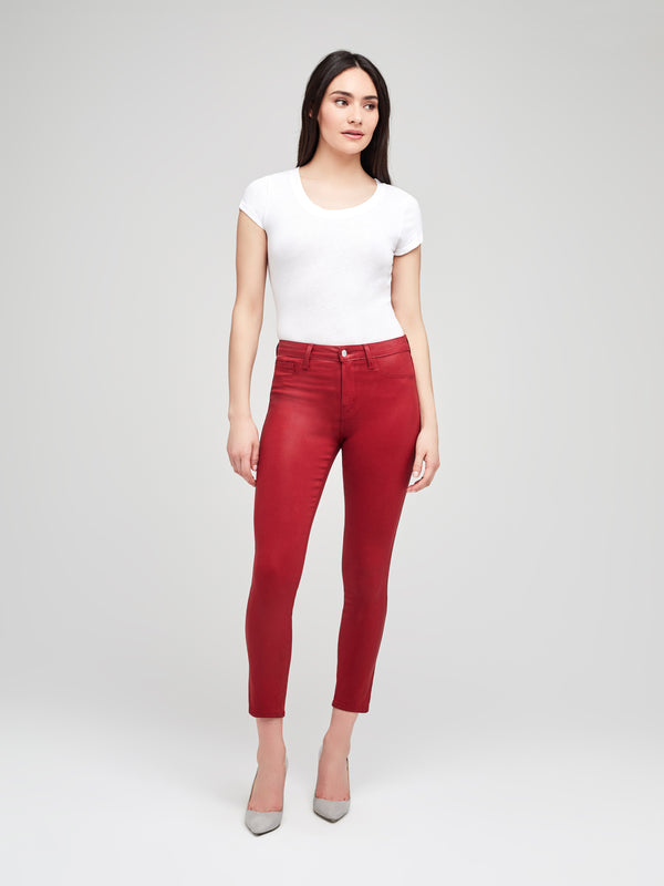 L'AGENCE  - MARGOT JEANS - REDSTONE COATED