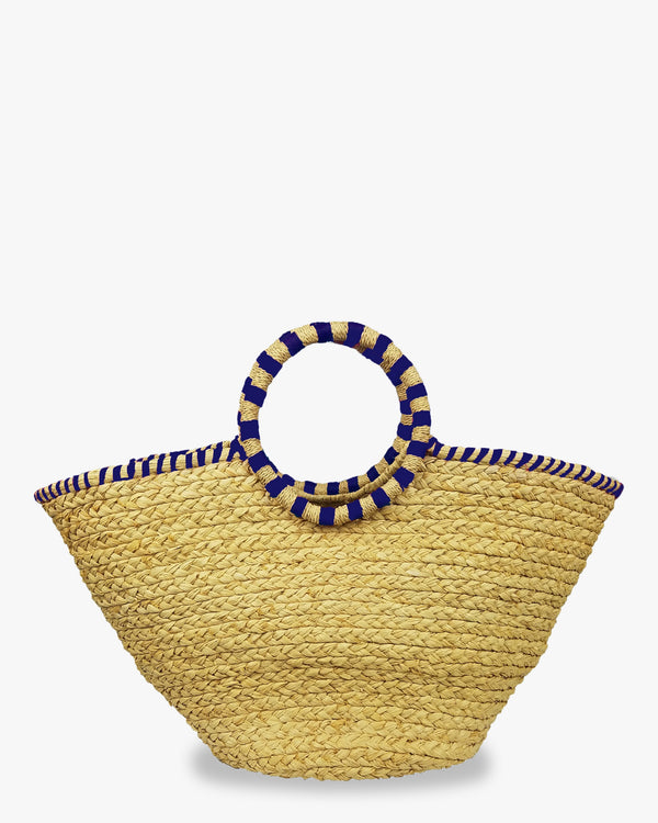Hat Attack  - Family Beach Bag - Natural Navy