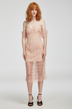 Keepsake - Countdown Lace Mini Dress - Blush
