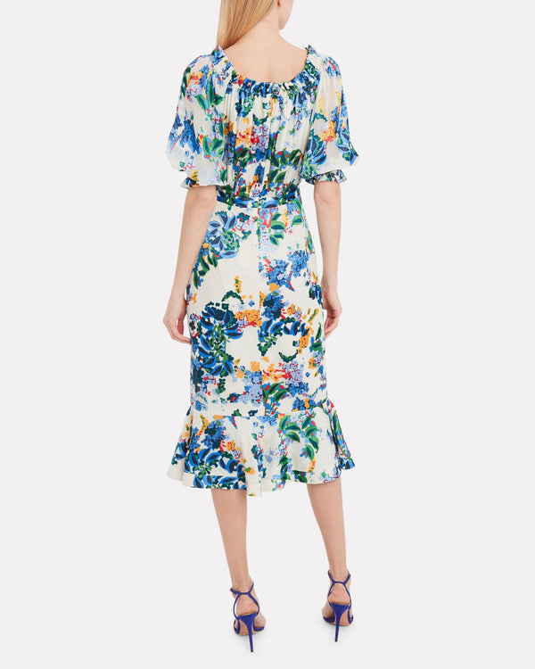 Saloni - Olivia Dress - Begonia Floral