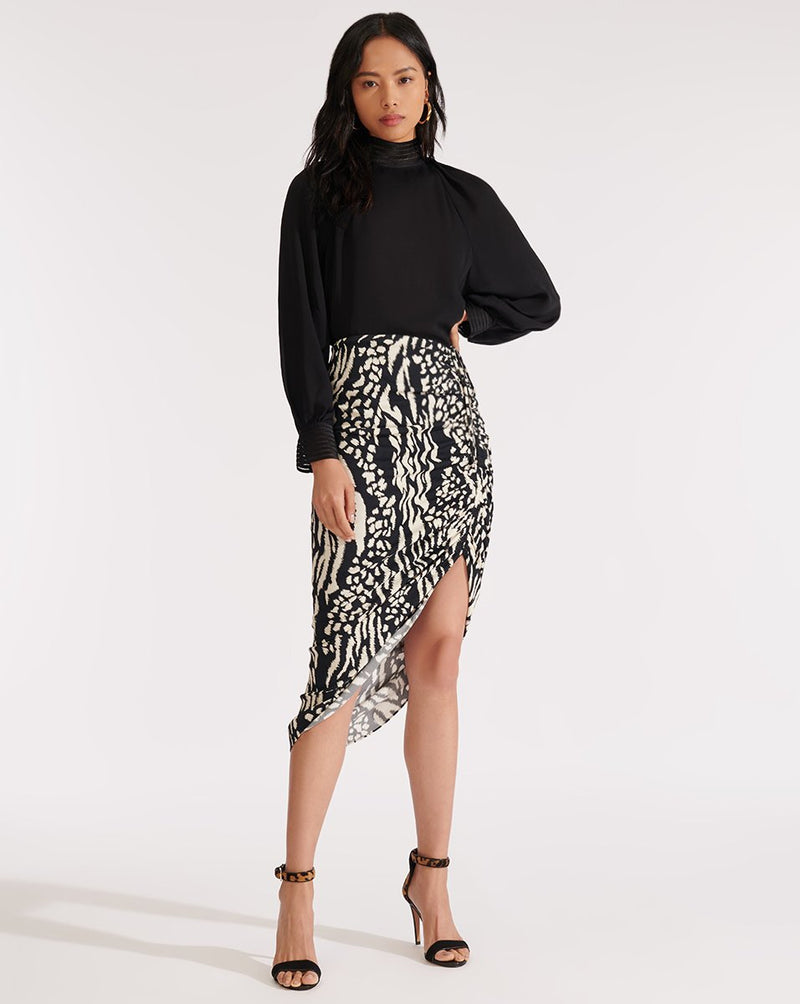 Veronica Beard - Ari Skirt - Black/Cream