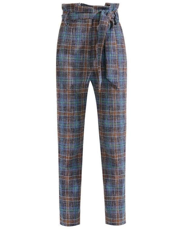 Veronica Beard Clerence Pant - Blue Multi