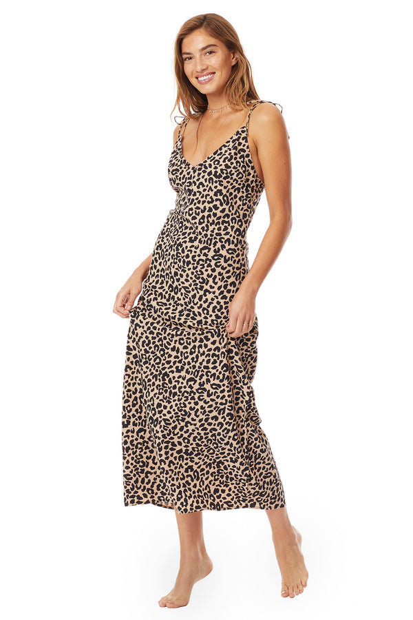 Tori Praver - Havens Slip Dress - LEOPARD